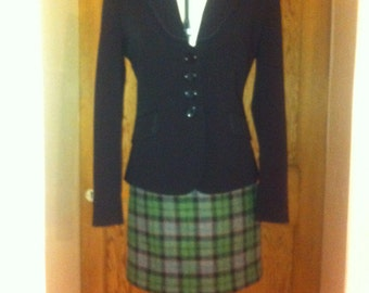 Harris tweed mini kilt skirt woman's gift tartan made in Scotland
