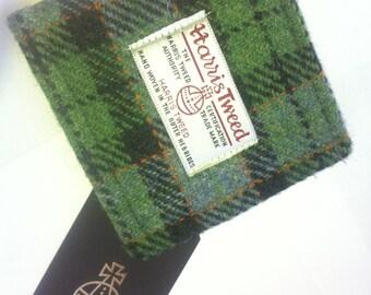 Harris tweed mans wallet made in Scotland gift Scottish wool vegetarian  wool plaid tartan UK British
