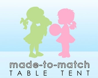 Made-to-Match Folding Table Tent . Digital File - to coordinate with SSC Card Design