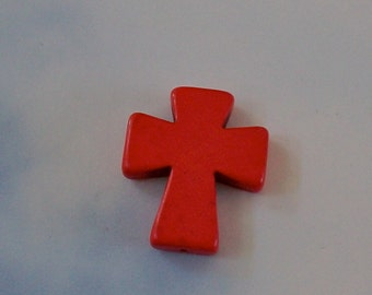 Medium Red Stone Cross
