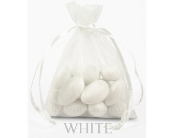160 White Organza Bags, 4 x 6 Inch Sheer Fabric Favor Bags, For Wedding Favors or Jewelry Packaging