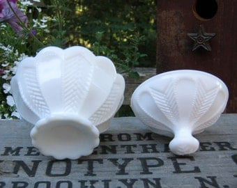 Imperial Glass Covered Dish in White Milk Glass - Candy Dish with Lid - Oak Hill Vintage