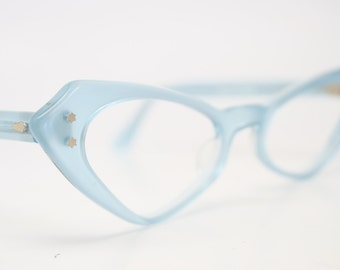 Blue cat eye glasses  vintage cateye eyeglasses frames