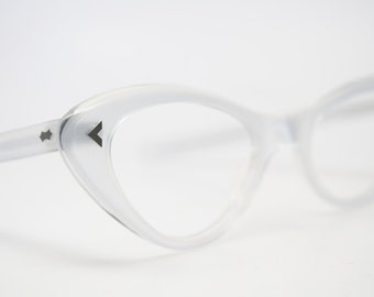 Silver  cat eye glasses  vintage cateye eyeglasses frames