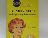 ON SALE Vintage Mid Century 1960's Sears Roebuck Laundry Guide, Mad Men, Kenmore, Wash Room