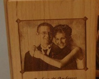 Wood DVD / CD Case Laser Engraved Personalized