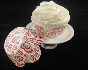 Hearts Petal Cupcake Liners