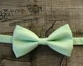 Solid Mint Green Bow Tie for little boys - wedding, ring bearer, little boy, accessory