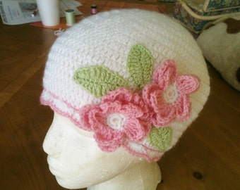Beautiful Hat with Flowers