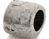 Casting-Pewter-9mm Small Chunky Barrel-Antique Silver-Quantity 1