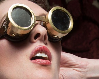 Steam Laboratory Solid Brass Goggles
