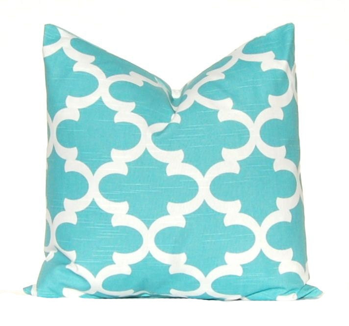Turquoise Throw Pillows Covers : Turquoise Pillow Aqua Pillow Cover Decorative Throw Pillow