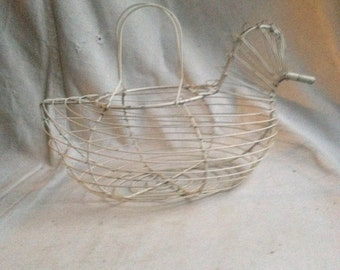 Folk wire egg basket farm egg basket hen egg basket