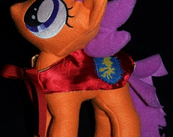 Scootaloo Pony Plushie Anime Handmade Custom Plush