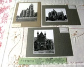 French St Denis Basilica Cathedral  Paris France  3 Original Photographs  Architectural Photos UC Berkeley