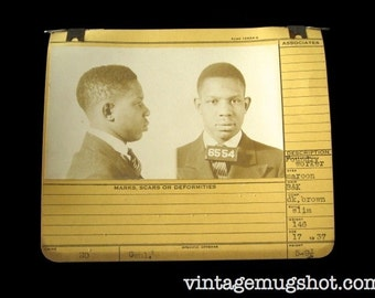 "1937 MUG SHOT Allegheney County  Pa Police Teenager Criminal Alias  ""'GOSPEL"" Foundry Worker"