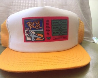 SALE Vintage 1970s Video Game Baseball Hat