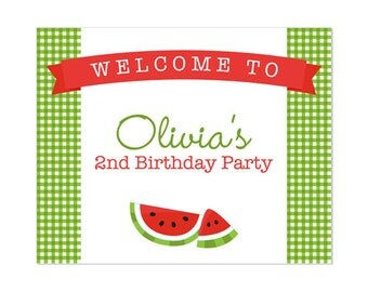 50% Off Sale! - PRINTABLE Summer or Watermelon Party Welcome Sign