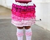 Girls Ruffle Skirt Upcycled Knit Made to Order