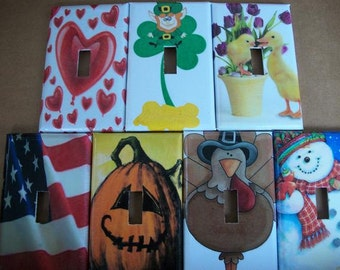 SWITCH PLATE COVER - 7 Holidays Set