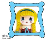 Machine Embroidery Doll Face Pattern Kawaii Cute Big Eyed Anime Girl Digital In The Hoop Files