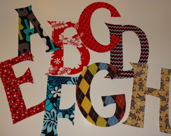 Any Letter or Number Iron On Applique Birthday Initial
