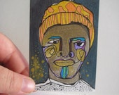 Winter Night  - original ACEO drawing - March 12th 2014