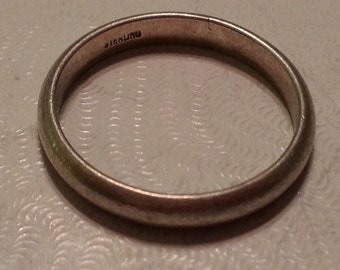 Sterling Silver Wedding Band Ring 925 Women Plain Classic