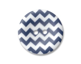 Riley Blake Carded Chevron Button Set of 4 in Navy Blue