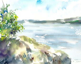 Camping Trip No.9, limited edition of 50 fine art girl prints from my original watercolor