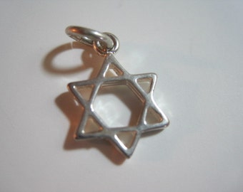 Sterling Silver Star of David Charm- 1 pc