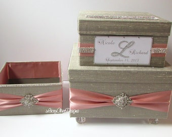 Wedding Card Box Holder and Program Box Holder/Bathroom Amenities Box SET