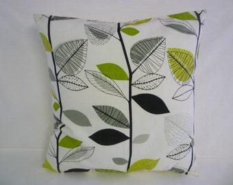 "BIG 22""  Cushion Pillow Cover Lime Green Gray Designer Cotton Pillowcase Sham Slip"