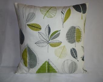 "BIG 22x22"" Pillow Lime Green Gray Designer Cotton Cushion Cover Pillowcases Shams Slips"