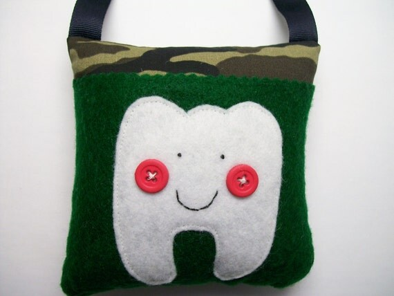 Boys Tooth Fairy Pillow Camouflage