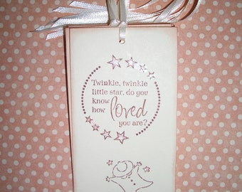 Baby Tags - Twinkle Twinkle Little Star - Sweet  - Baby Shower - Wish Tree Tag - Wish Cards - Set of Six