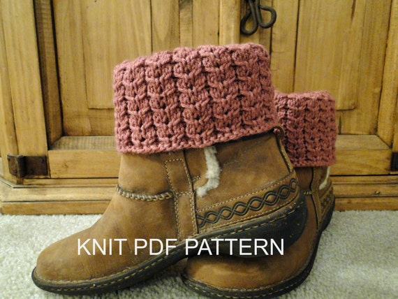 PDF PATTERN Knit Boot Cuff Leg Warmers for by karensstitchnitch