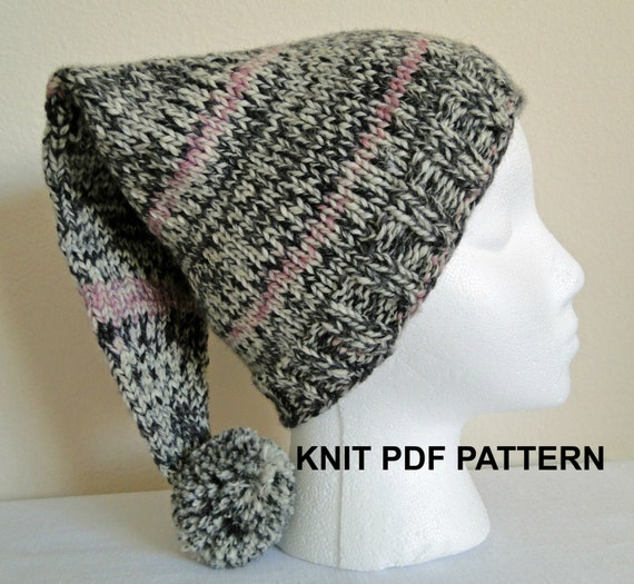 Knit Stocking Cap Pattern : Items similar to PDF PATTERN Knit Stocking Hat, Ski Hat, Taboggan Hat in xxs,...