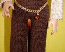 Capris Crochet  Pattern For Ellowyne Fits Antionette Digital Download by djemorin