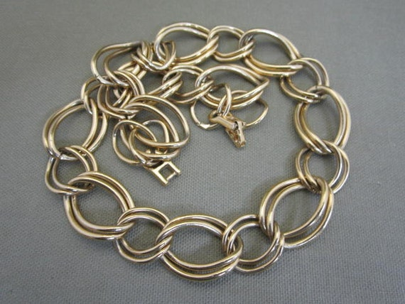 Chain Necklace, large linked, curb chain