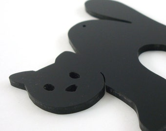 Black Cat Ornament Halloween Decoration Autumn Decor Hand Cut Acrylic