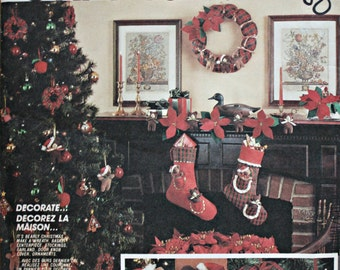 McCalls 2689 Teddy Bear Christmas Crafts Vintage Sewing Pattern