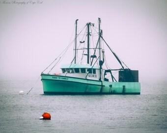 MAINE Photography ~ LOBSTER BOAT Art, Pick Your Size Print, Nautical Decor, Marine Photo, Atlantic Ocean, Fishing Boat, Coastal, Cottage,