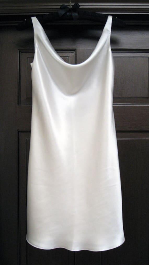 Low Back Weding Slip Dress