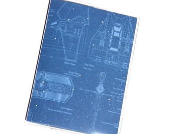 PASSPORT COVER - Star Wars Blueprints