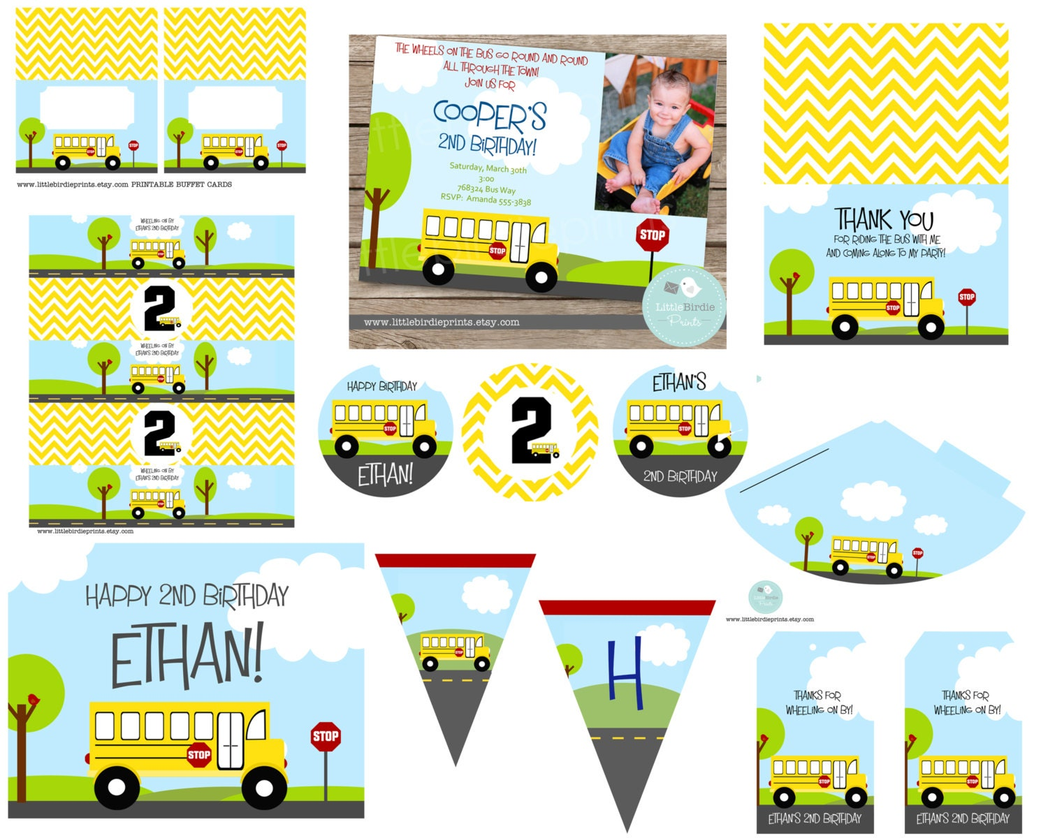 Wheels On The Bus Party Decorations