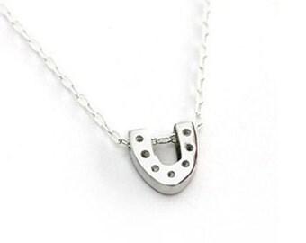 Horseshoe Necklace- Silver