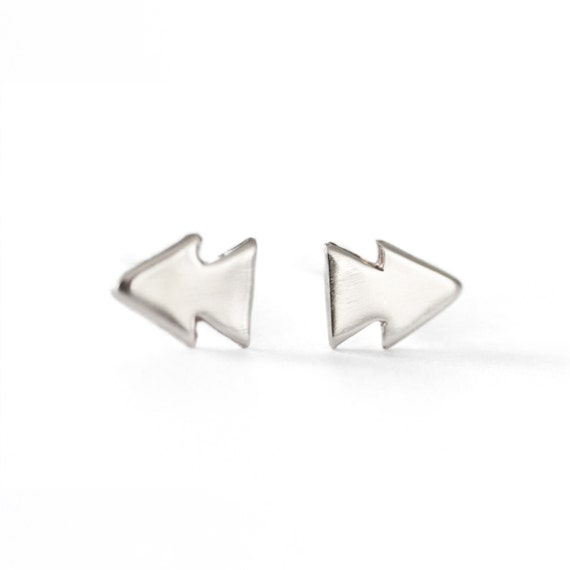 Rewind and Forward Earrings - Silver