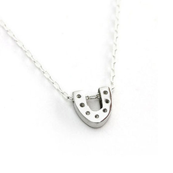Horseshoe Necklace- Silver