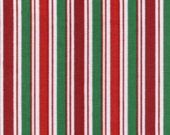 Fabric Finders Red and Green Stripe Twill